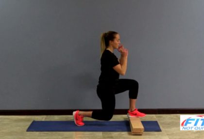 Front Foot Elevated Lunge