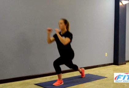 In Place Reverse Lunge