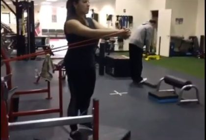 Pallof Press with Hip Abduction